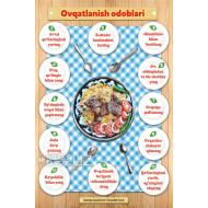 «Ovqatlanish odoblari» (plakat)